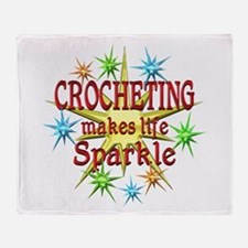 Crocheting Sparkles Throw Blanket