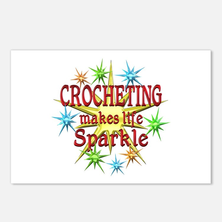 Crocheting Sparkles Postcards (Package of 8)