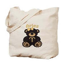 Aries Bear Tote Bag
