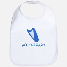 Celtic Harp my therapy Bib