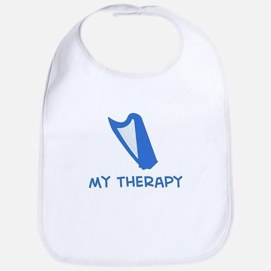 Celtic Harp my therapy Bib