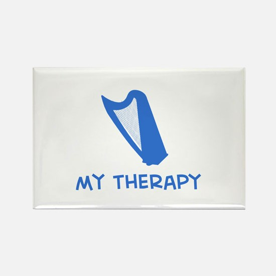 Celtic Harp my therapy Rectangle Magnet