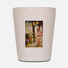 Vintage Cuba Tropics Travel Shot Glass