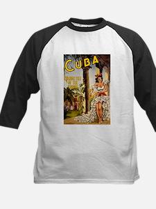 Vintage Cuba Tropics Travel Baseball Jersey