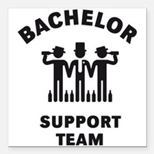 Bachelor Support Team (Stag Party / Black) Square