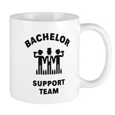 Bachelor Support Team (Stag Party / Black) Mug