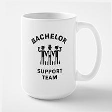 Bachelor Support Team (Stag Party / Black) Mug