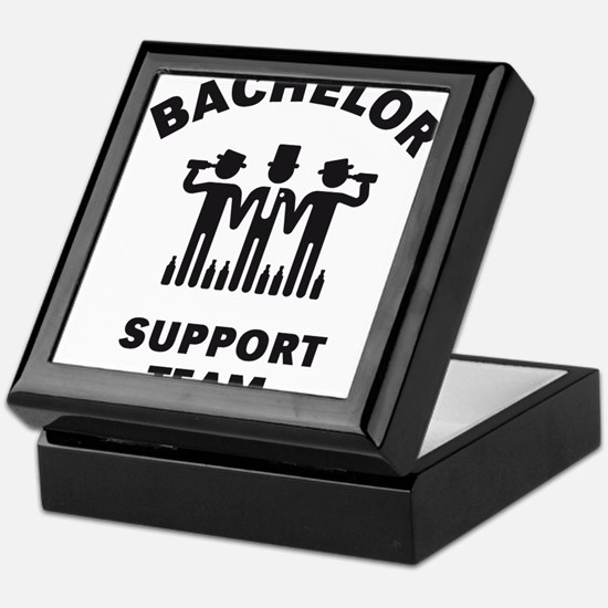 Bachelor Support Team (Stag Party / Black) Keepsak