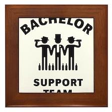 Bachelor Support Team (Stag Party / Black) Framed