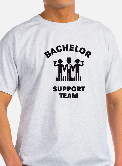 Bachelor Support Team (Stag Party / Black) T-Shirt