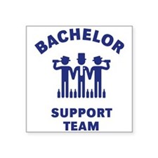 Bachelor Support Team (Stag Party / Blue) Sticker