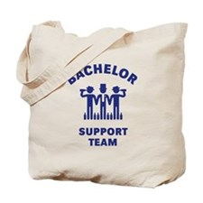 Bachelor Support Team (Stag Party / Blue) Tote Bag