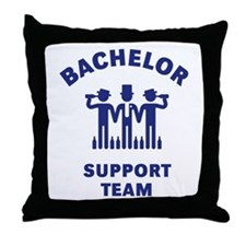 Bachelor Support Team (Stag Party / Blue) Throw Pi