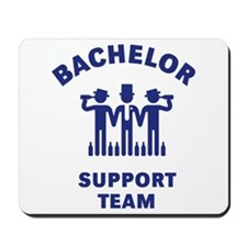 Bachelor Support Team (Stag Party / Blue) Mousepad