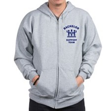 Bachelor Support Team (Stag Party / Blue) Zip Hoodie