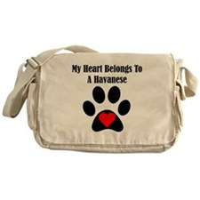 My Heart Belongs To A Havanese Messenger Bag