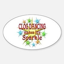Clog Dancing Sparkles Decal