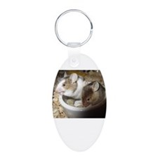 Mice in a bowl Keychains