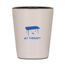 Keyboard my therapy Shot Glass