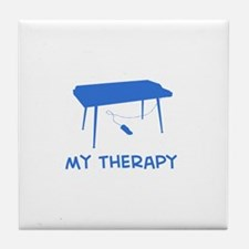 Keyboard my therapy Tile Coaster