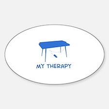 Keyboard my therapy Sticker (Oval)