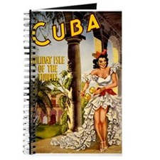 Vintage Cuba Tropics Travel Journal