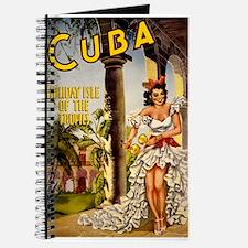 Vintage Cuba Tropics Travel Journal