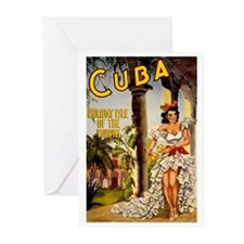 Vintage Cuba Tropics Travel Greeting Cards (Pk of