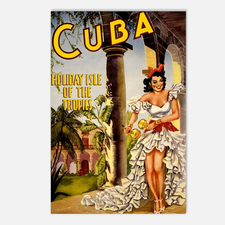 Vintage Cuba Tropics Travel Postcards (Package of
