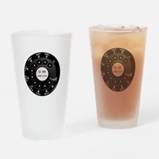 Rotary Faux -bw Drinking Glass