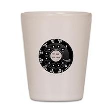 Rotary Faux -bw Shot Glass