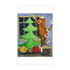 Christmas Sock Monkey Rectangle Decal