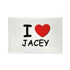I love Jacey Rectangle Magnet