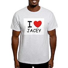 I love Jacey Ash Grey T-Shirt