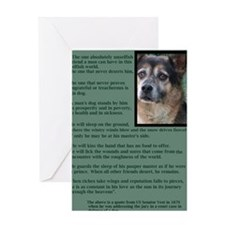 In defense of a Dog... Greeting Card