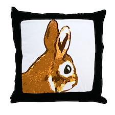 Bunny Head Throw Pillow