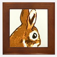 Bunny Head Framed Tile