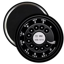 Rotary Dial Phone -T Magnet