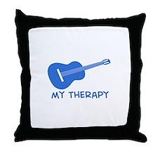 Ukelele my therapy Throw Pillow