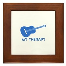 Ukelele my therapy Framed Tile