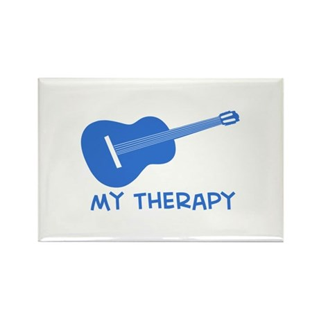 Ukelele my therapy Rectangle Magnet (100 pack)