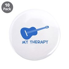 "Ukelele my therapy 3.5"" Button (10 pack)"
