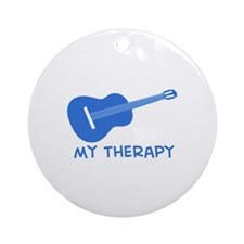 Ukelele my therapy Ornament (Round)