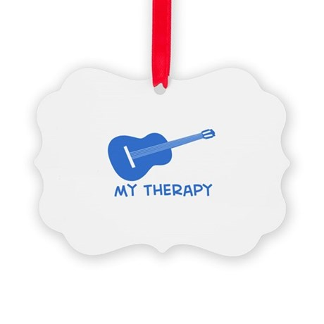 Ukelele my therapy Picture Ornament