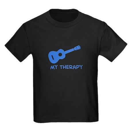 Ukelele my therapy Kids Dark T-Shirt