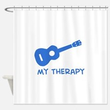 Ukelele my therapy Shower Curtain