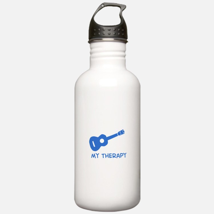 Ukelele my therapy Water Bottle