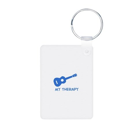 Ukelele my therapy Aluminum Photo Keychain