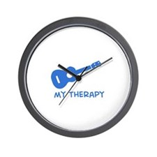Ukelele my therapy Wall Clock