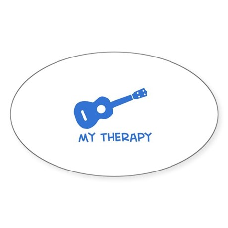 Ukelele my therapy Sticker (Oval)